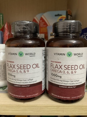Flax Seed Oil Omega 3 6 9 1000mg